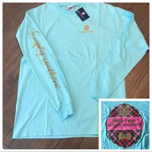 "Simply Southern L ""plaids & bows"" long sleeve top"